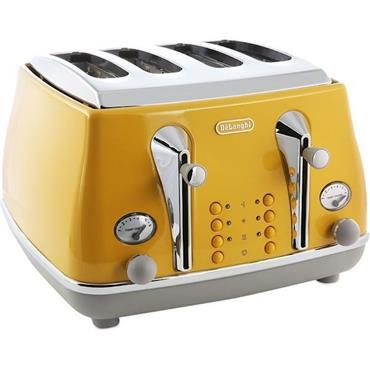 Delonghi Icona 4 Slice Toast Yellow