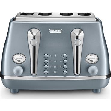 Delonghi Icona Metallics 4-Slice Blue Toaster