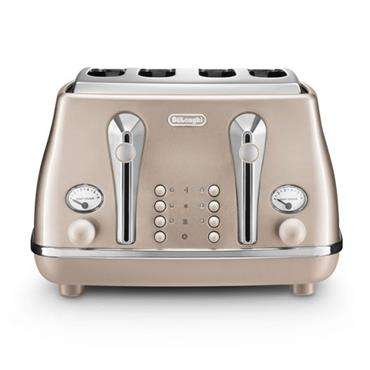Delonghi Icona Metallics 4-slice Beige Toaster