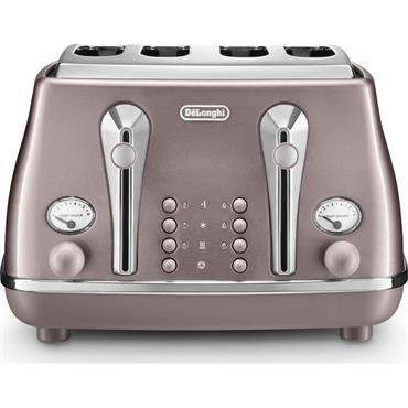 Delonghi Icona Metallics 4-Slice Violet Toaster