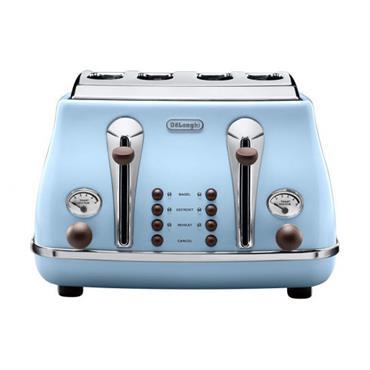 Delonghi Icona 4 Slice Blue Toaster