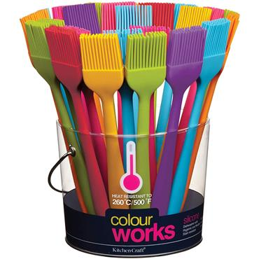 KitchenCraft ColourWorks Assorted Brights Silicone Mini Pastry Brush