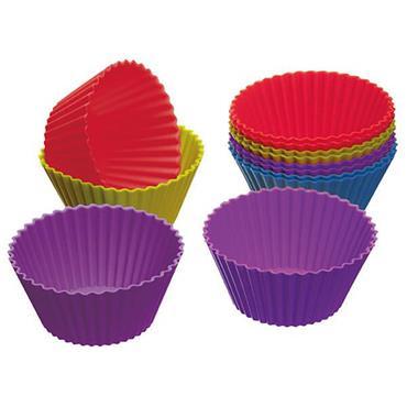 KitchenCraft ColourWorks Silicone Cupcake Cases 7cm 12pk