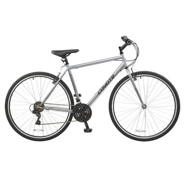 "Coyote Gents 20"" Hybrid 18 Speed Silver Grey"