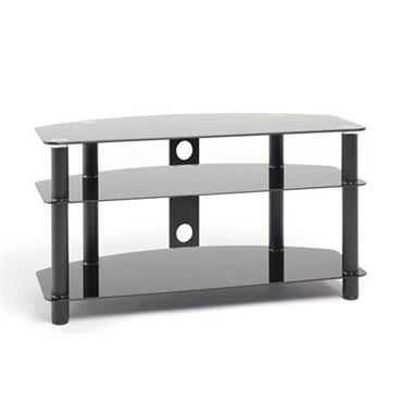 "Techlink Universal Black Glass TV Stand (Up To 40"""")"
