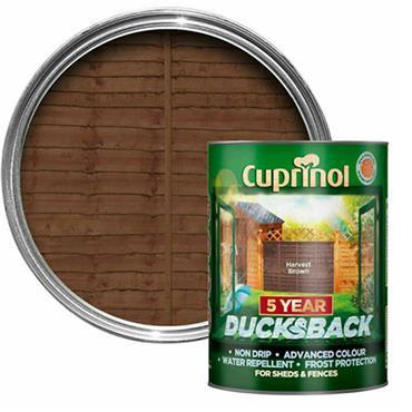 Cuprinol Ducksback Harvest Brown 5L
