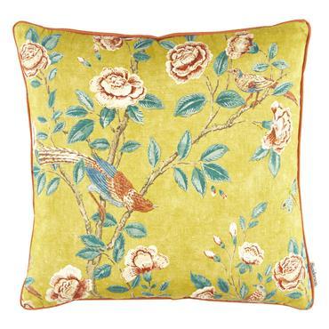 Sanderson Andhara Saffron Teal Cushion  50x50