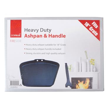 "De Vielle Heavy Duty 18"""" Black Ashpan & Handle"