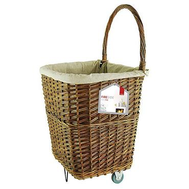 De Vielle Large Wicker Firelog Cart