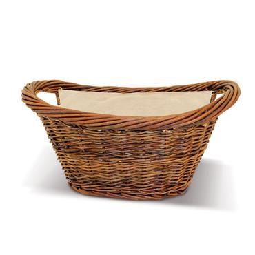 De Vielle Natural Wicker Oval Basket (Jute Liner)