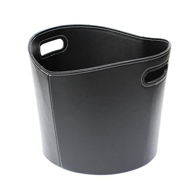 De Vielle Faux Leather Log Basket