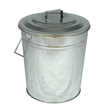 De Vielle Coal Tub & Lid Galvanised