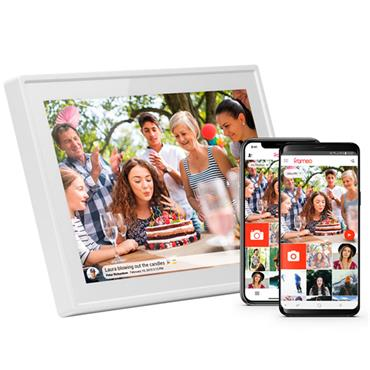"Denver 10.1"" White Digital Wifi Photoframe"
