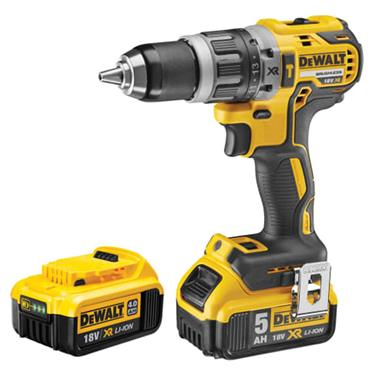 Dewalt DCD796PM XR Brushless Hammer Drill 18V 1 x 4.0Ah & 1 x 5.0Ah Li-ion