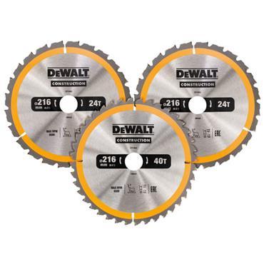 Dewalt Construction Circular Saw Blade 3pk