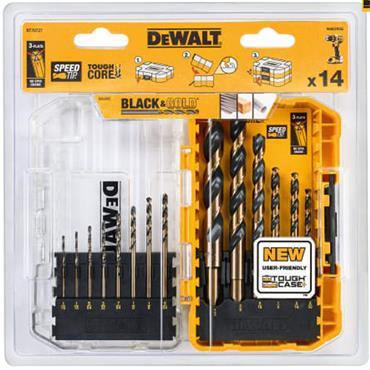 Dewalt Black & Gold HSS Drill Set 14pce