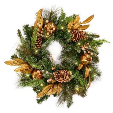 Prelit Wreath 60cm