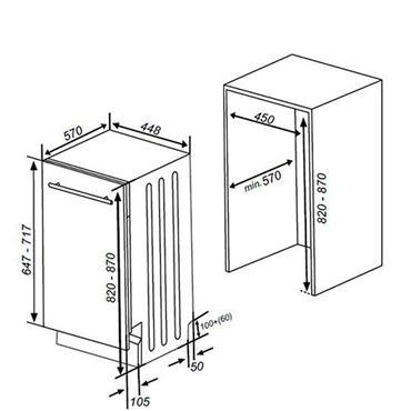 Nordmende 45cm Fully Integrated Dishwasher