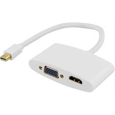 Deltaco Mini Display Port To HDMI & VGA Adaptor