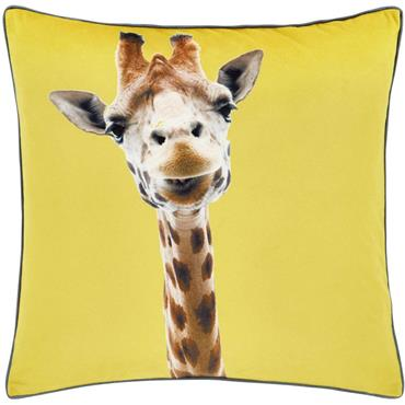 Catherine Lansfield Giraffe Yellow Cushion Cover 55X55