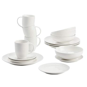 Maxwell Williams White Basics Diamonds Dinner Set 16pce