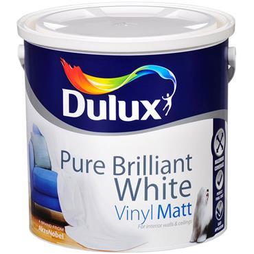 Dulux Vinyl Matt Brilliant White 5L