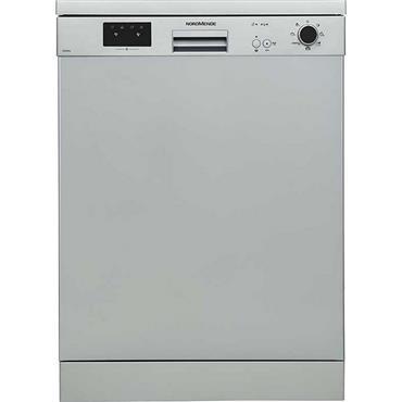 Nordmende 60cm Freestanding Dishwasher Silver