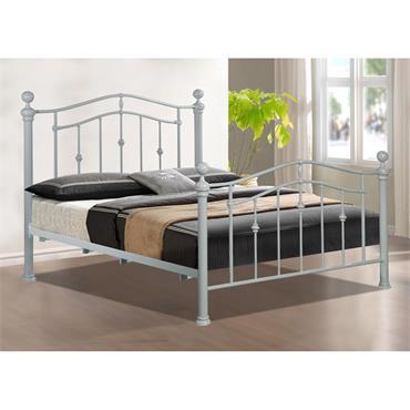 """Elizabeth 4ft 6"""" Metal Bed Frame Grey"""