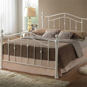 """Elizabeth 4ft 6"""" Metal Bed Frame Cream"""