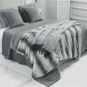 Walton & Co Empress Bed Throw Grey