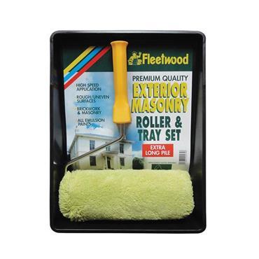 "Fleetwood 9"" Premium Masonry Roller and Tray Set"