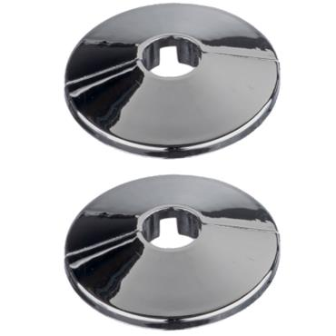 """Easi Plumb 0.5"""" Chrome Plated Pipe Hole Trims Pack Of 2"""