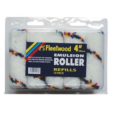 "Fleetwood 4"" Emulsion Roller Refills 10pk"