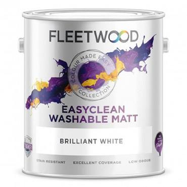 Fleetwood Easy Clean Matt Paint Brilliant White 5L