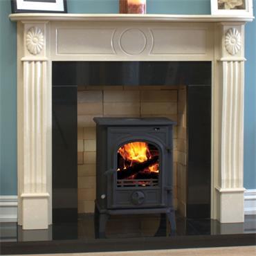 """Henley Stoves Bertoneri 54"""" Lisburn Fireplace Ivory"""