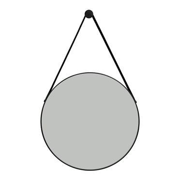 Riviera Round Black Frame Mirror 50cm