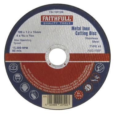 Faithfull Metal Cut Off Wheel 230 X 3.2 X 22mm