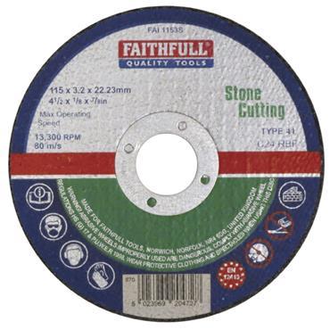 Faithfull Stone Cut Off Wheel 230 x 3.2 x 22mm