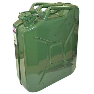 Faithfull Green Jerry Can Metal 20L