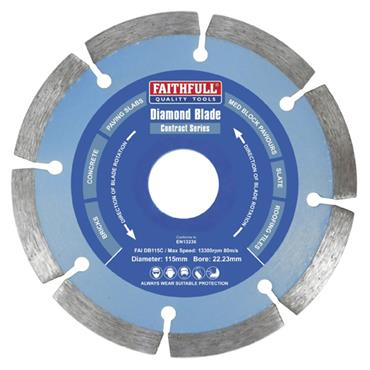 Faithfull Diamond Blade 115 x 22mm
