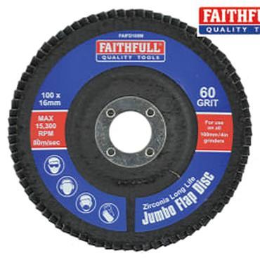 Faithfull Flap Disc 100mm Medium