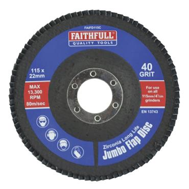 Faithfull Flap Disc 115mm Coarse