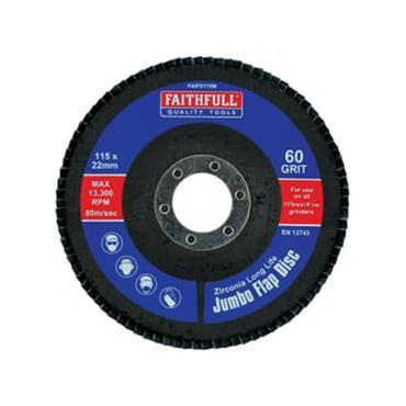 Faithfull Flap Disc 115mm Medium