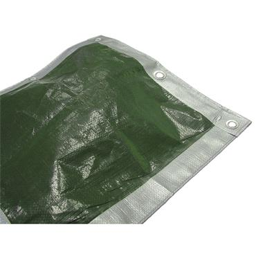 Faithfull Tarpaulin (eye) Green Sil 18ft X 12ft