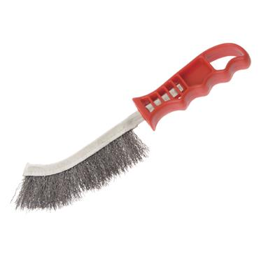Faithfull Wire Scratch Brush Stainless Steel Red Handle