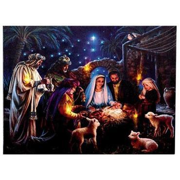 Premier Nativity Scene Canvas 40 x 30cm