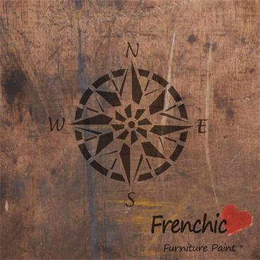 Frenchic Compass Point Stencil