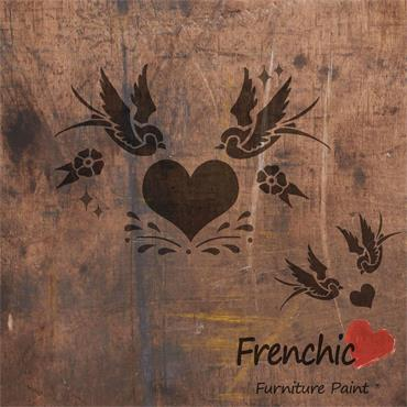 Frenchic Swallows In Love Stencil