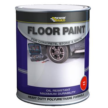 Everbuild Red Floor Paint 5L