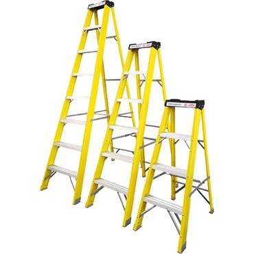 Power 8 Tread Fibreglass Ladder